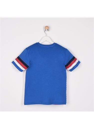 Panço Erkek Çocuk V Yaka T-Shirt 2111BK05005 Mavi